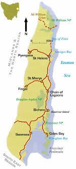 map of tasmania australia map east coast of australia major tourist attractions maps