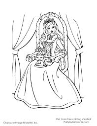 6 images pretty princess coloring pages pretty barbie