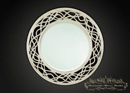waves and circle ivory mirrors from ornamental mirrors limited
