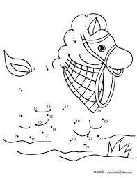 horse dot to dot game coloring pages hellokids com