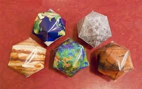 how to make icosahedral planet ornaments math craft wonderhowto