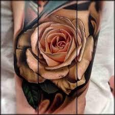 rose u0026 palm leaves shoulder tattoo tattoo com