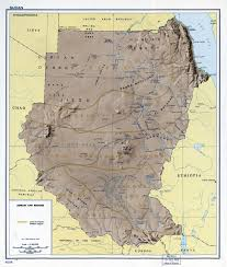 Africa Regions Map by Large Detailed Terrain And Regions Map Of Sudan 1963 Sudan