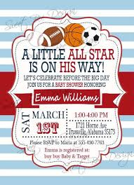 sports themed baby shower invitations sports themed baby shower