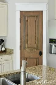 Antique Cabinets For Kitchen Diy U201cantique U201d Pantry Door Slightly Coastal
