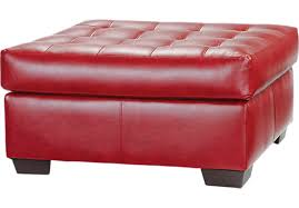 awesome red leather ottoman red storage ottoman bellacor