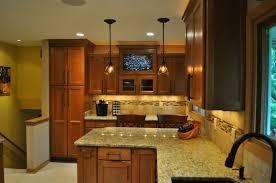 Light Kitchen Island Pendant - kitchen wooden varnished kitchen island modern kitchen designs