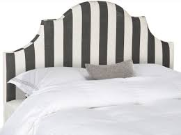 hallmar black u0026 white stripe headboard headboards furniture by