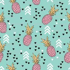 tropical hawaiian aqua blue and pink pineapple summer fruit