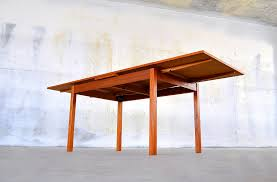 Danish Dining Room Table by Select Modern Danish Modern Teak Expandable Dining Room Table