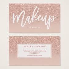 Makeup Artist Supply Makeup Artist Elegant Typography Blush Rose Gold Business Card