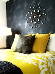 bedroom agreeable yellow and grey bedding chevron decor gray