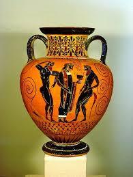 Greek Black Figure Vase Painting Ancient Greece Arts Greek Art Painting Hellenistic Greek Art