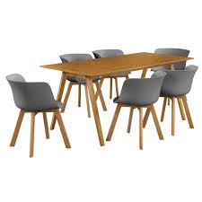 Esszimmertisch Ebay En Casa Esstisch Mit 6 Stühlen Bambus Grau 180x80 Küchentisch