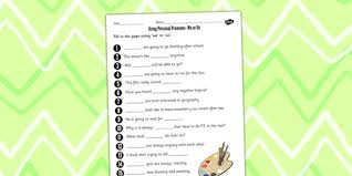 personal pronouns we or us worksheet personal pronouns
