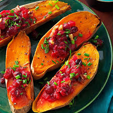 cranberry walnut sweet potatoes recipe taste of home