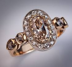 brown diamond engagement ring fancy color diamond antique engagement rings antique jewelry