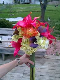 Fake Flower Arrangements Diy Silk Flower Bouquets Weddingbee