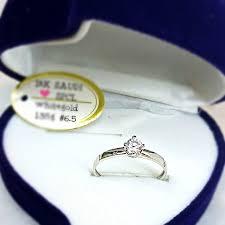 wedding ring saudi gold 18k saudi gold ring with diamond white gold preloved women s