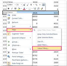 Sort A Pivot Table How To Hide Zero Value Rows In Pivot Table