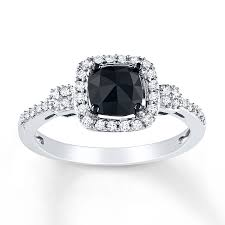 kays black engagement rings free rings black engagement rings with white diamonds