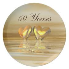 anniversary plates golden 50 wedding anniversary plates personalized zazzle