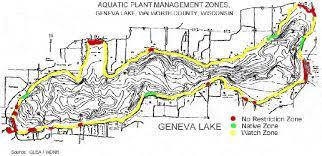 map of lake geneva wi glea lake data