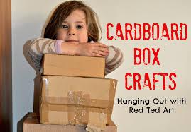 20 cardboard box craft ideas red ted art u0027s blog