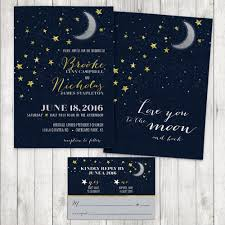 Invitations And Rsvp Cards Love You To The Moon And Back Wedding Invitation Moon And