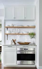 Wood Kitchen Shelves by Stacked Wood Kitchen Shelves With Iron Brackets Transitional