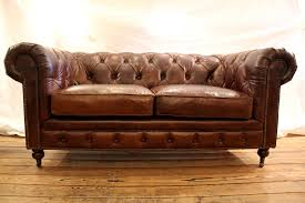 Distressed Leather Chesterfield Sofa Awesome Hancock Tufted Distressed Saddle Brown Italian