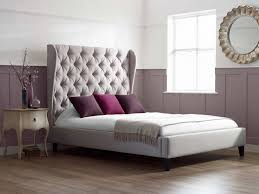 Bed Designs In Wood 2014 Bedroom Fascinating Beige Simple Upholstered Beds With Best White