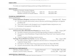 Sample Esthetician Resume New Graduate Sample Occupational Therapy Resume Resume Samples And Resume Help