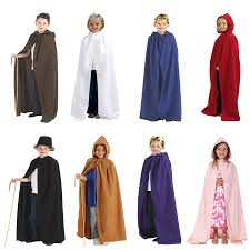child halloween costumes uk children u0027s boys and girls cloak robe cape with hood halloween