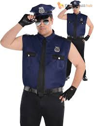 security guard halloween costume mens police officer costume policeman new york cop fancy