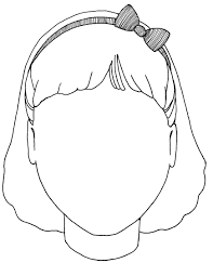 blank face coloring page 7771