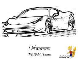 deluxe ferrari sport car coloring page ferrari car coloring pages