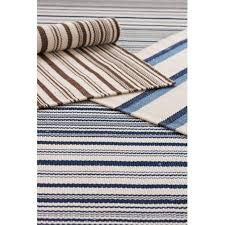 Woven Outdoor Rugs Dash And Albert Rugs Woven Captain Stripe Navy Ivory Indoor