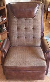 Vintage Recliner Chair Vintage Oiginal1967 La Z Boy Mid Century Brown Leather Rocker
