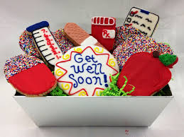 cookie baskets custom cookie basket by manny s get well soon cookie basket