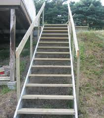 exterior stair stringers by fast stairs com