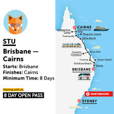 Map East Coast Brisbane To Cairns Tours Travel Tickets One Stop Adventures