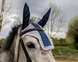 Horse Bridle Decorations Long Fly Bonnet Brown Brown Flybonnet Long Model Earbonnet