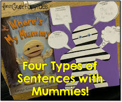 first grade fairytales 4 types of sentences mummy style freebie