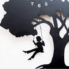 aliexpress buy modern creative tree shape mute wall clock