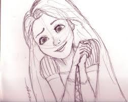 rapunzel sketch by thenameisbichie on deviantart