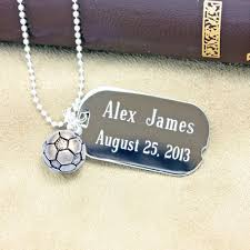 custom dog tag necklace blessings boys personalized dog tags in sterling silver with