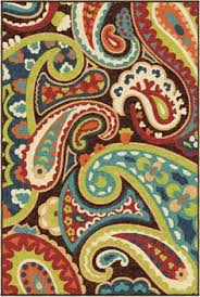 we love the pops of color in this 5x8 veranda outdoor rug ffo