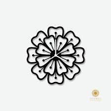 Designer Clock by Flower Pattern Modern Wall Clock Modern Laser Cut Acrylic Designer