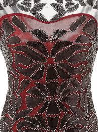 buy sheath jewel v back red women u0027s dress with black sequins